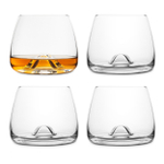 Final Touch DuraShield Lead-Free Crystal Whiskey Glass, Set of 4