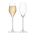 Final Touch DuraShield Lead-Free Crystal Champagne Glass, Set of 2