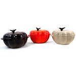 Le Creuset Autumn Cast Iron Pumpkin Cocotte, Set of 3