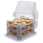 Cupcake Courier Caddy in Clear, Holds 36
