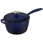 Le Creuset Signature Indigo Enameled Cast Iron 2.25 Quart Saucepan with Lid