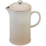 Le Creuset Meringue Stoneware 27 Ounce French Press Coffee Maker