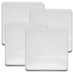 Range Kleen 4 Piece White Square Burner Kover Set