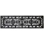 Entryways Fleur Di Lys Black Rubber Stair Tread Doormat, 9 x 30 Inch
