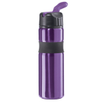 Oggi Lustre Contour Purple Stainless Steel Sport Bottle