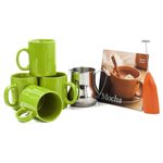 Barista Coffee Connoisseur 7 Piece Citron Mugs and Completer Set