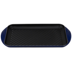 Le Creuset Indigo Enameled Cast Iron Extra Large Double Burner Grill Pan