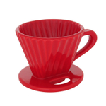 Chantal Craft Coffee Red Ceramic 8 Ounce Lotus Pour Over Filter