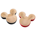 Le Creuset Cerise & Shiny Black Mickey Mouse 7.5 Ounce Ramekin, Set of 2