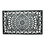Entryways Sunburst Recycled Rubber Doormat, 18 x 30 Inch