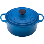 Le Creuset Signature Marsielle Blue Enameled Cast Iron Round French Oven, 4.5 Quart