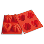 Silikomart Baby Line Red Silicone Happy Love Baking Mold