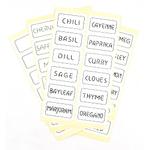 Spice Label Sticker, Set of 48