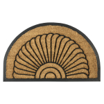 Entryways Recycled Rubber and Coir 18 x 30 Inch Half Round Shell Doormat