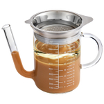 HIC Harold Import Co Glass 32 Ounce Gravy Strainer