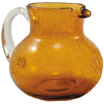 Artland Iris Amber Seeded Glass Pitcher, 90 Ounce