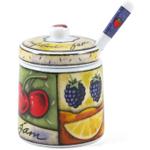 Jo!e Uptown Market Ceramic Jam Jar and Spoon Set