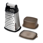 KitchenAid KN300OSOBA Gourmet Stainless Steel Black Box Grater