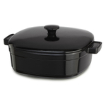 KitchenAid KCLI60CROB Streamline Onyx Black Cast Iron 6-Quart Casserole Dish with Lid