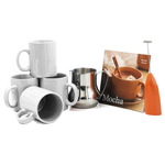 Barista Coffee Connoisseur 7 Piece White Mugs and Completer Set