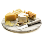 RSVP Endurance White Marble Cheese Board and Stainless Steel 7.5 Inch Cheese Knife