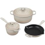 Le Creuset Signature Meringue Enameled Cast Iron 5 Piece Cookware Set