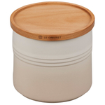 Le Creuset Meringue Stoneware 1.5 Quart Canister with Wood Lid