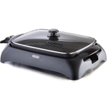 DeLonghi Healthy Indoor Grill with Tempered Glass Lid, 165 Square Inch