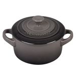 Le Creuset Oyster Stoneware 8 Ounce Mini Round Cocotte