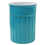 Omniware Simsbury Turquoise Ceramic Utensil Holder