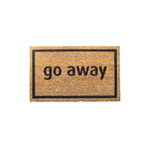 Entryways Black 'Go Away' Hand Woven Coir Sarcastic Doormat