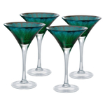Artland Peacock Mirrored 8 Ounce Martini Glass