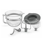 KitchenAid KSMF6GB Glass 6 Quart Mixing Bowl with Accessories for Bowl-lift Stand Mixers