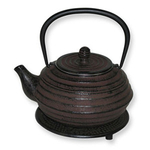 Japanese Tetsubin Cast Iron Brown Lantern Teapot
