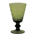 True Fabrications Lime Embossed 8 Ounce Glass Goblet