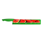 Pure Komachi HD Watermelon Pattern Stainless Steel 11 Inch Melon Knife with Sheath