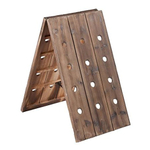 Vintage Style 24 Bottle Distressed Wood Riddling Wine Rack
