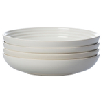 Le Creuset White Stoneware 8.5 Inch Pasta Bowl, Set of 4