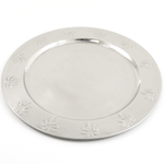 Stainless Steel Palm Tree Charger Plate, Set of 4