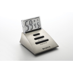 BonJour Silver Chrome Digital Timer with Transparent Lcd Screen