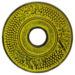 Lemon Yellow Cast Iron Trivet for Japanese Tetsubin