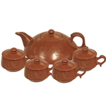 Terracotta Clay 10 Piece Asian Teapot & Cup Set