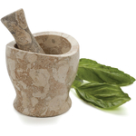 RSVP Fossil Marble Mortar and Pestle