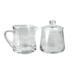 Artland Simplicity Glass 9 Ounce Sugar and Creamer Set