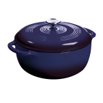 Lodge Indigo Enameled Cast Iron 6 Quart Dutch Oven