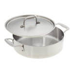 American Kitchen Stainless Steel 10-Inch Covered Casserole Pan