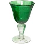 Artland Iris Green Seeded Wine Glass