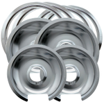 Range Kleen Chrome 8 Piece Drip Bowl and Trim Ring Set
