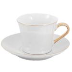 Pearl & Gold 12 Piece Demitasse Espresso Cup & Saucer Set