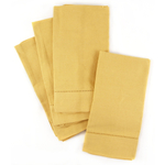 Town and Country Home Dijon Yellow Hemstitch 100% Cotton Cloth Dinner Napkins, Set of 6